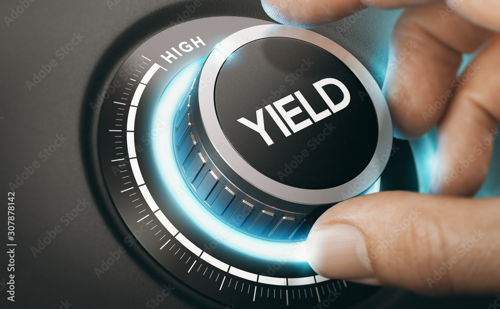 Fototapeta Investment Or Finance Concept. Yield Management.
