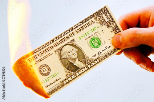Dollar verbrennen Canvas-taulu