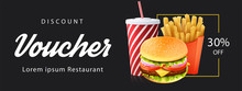 Burger Discount Voucher Templa...
