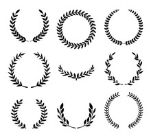 Set Of Various Laurel Wreaths....