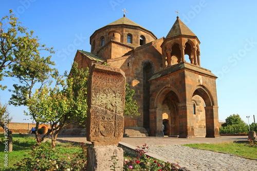 The Seventh Century Armenian Apostolic Church of Saint Hripsime in Vagharshapat Canvas Print