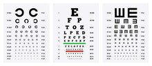 Eye Test Charts Set
