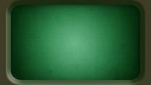 Blank Old Green Computer Termi...