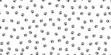 Pet Paw Print Seamless Pattern. Abstract Animal Vector Background.