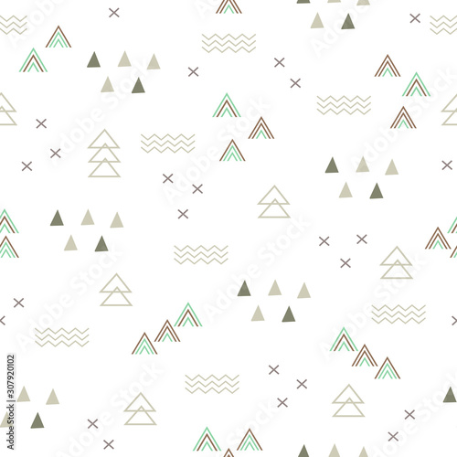 Seamless Pattern abstract teepee tent plus sign cross  design for background, wallpaper, clothing, wrapping paper, fabric