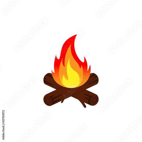 Cuadros en Lienzo Camp fire icon