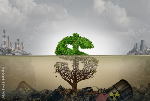 Fototapeta  Financial Cost Of Polluted Environment