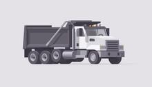 Vector Dump Truck. Isolated Am...