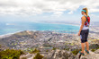 canvas print picture - Overlooking Cape Town & Table Bay