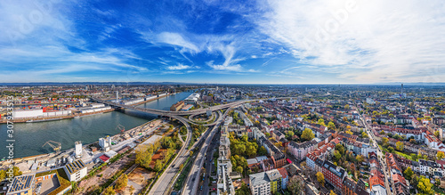 Ludwigshafen City aerial shot