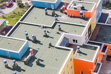 Top View Flat Roof With Air Co...