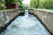 Waterfall Off Canal Run Off