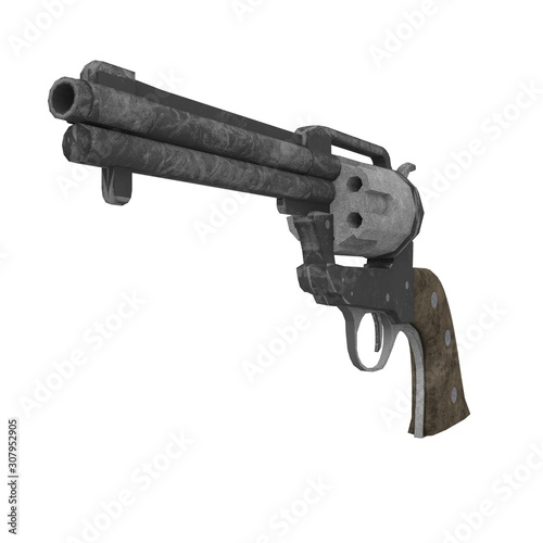 Colt Single Action Army handgun classical wild west armed revolver 3d illustrati Canvas-taulu
