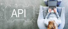 API Concept With Man Using A L...