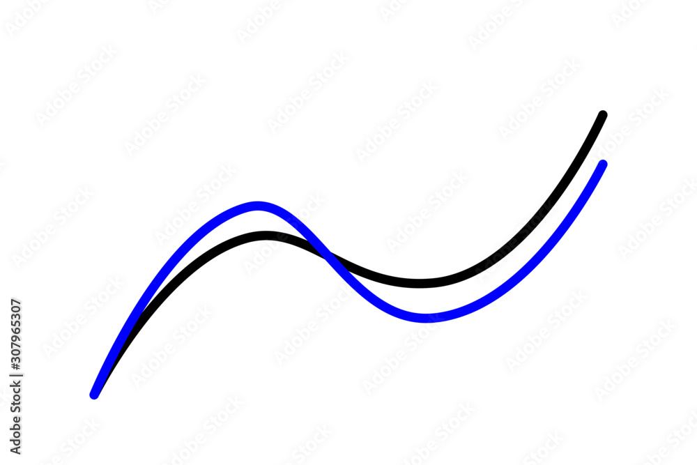 Fototapeta Vector of chart suitable for business, poster, background, presentation, book, graphic