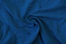 Crumpled Blue Fabric Texture C...