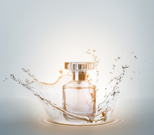 Bottle Of Perfume With Splash ...