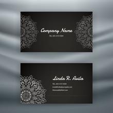 Luxury Business Card Design - Sliver  Mandala Pattern