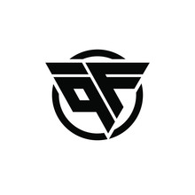 QF FQ Triangle Logo Circle Monogram Design Vector Super Hero Concept