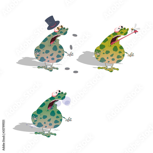 a thick spotted toad suffers from indigestion from gluttony Canvas Print