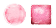 Two Watercolor Figures On Whit...