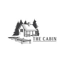 Cabin Wood Logo, Cabin Resort Logo