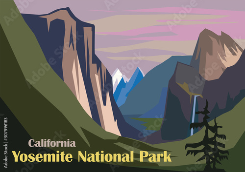 Tunnel View landscape, Yosemite National Park Canvas Print