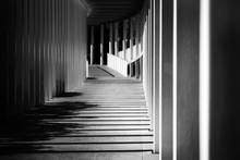 Empty Modern Hallway City With...