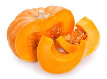 Fresh Pumpkin On White Background