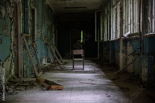 Abandoned building in Prypiat, Chernobyl Canvas Print