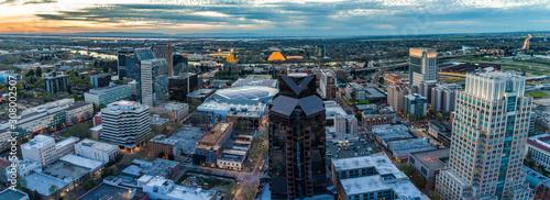 Fototapeta Aerial images of downtown Sacramento obraz