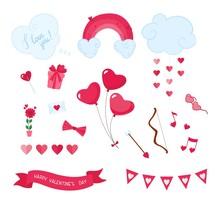 Valentines Day Romantic Flat V...