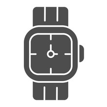 Mens Wrist Watch Solid Icon. M...