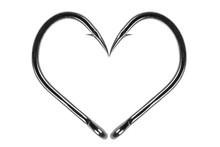 Fishing Hook Love Heart Sign I...