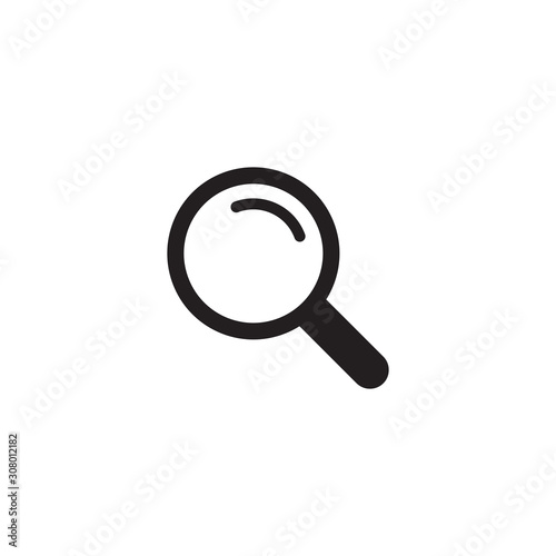 Leinwand Poster Search icon symbol vector illustration