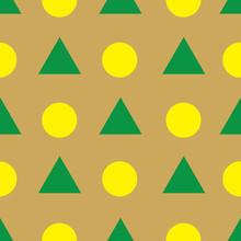 Geometric Pattern In Fall Colors