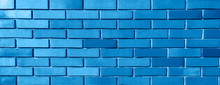 Blue Background From Brick Wal...