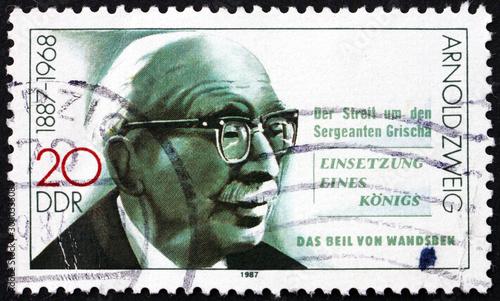 Postage stamp Germany 1987 Arnold Zweig, German writer Wallpaper Mural