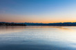 Twilight on Zurich Lake