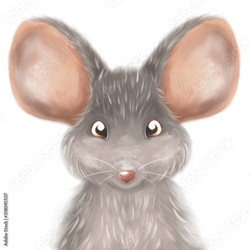 sliczny-maly-mysz-portreta-reki-obraz