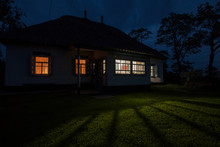 Country House At Night. Window...