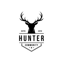 Deer Hunter Logo, Badge, Emble...