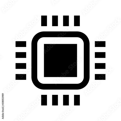 mini cpu vector icon isolated flat vector mobile cell phone cpu illustration silhouette of micro processor digital chip pictogram technology part symbol buy this stock vector and explore similar vectors at fotolia