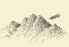 A Flight Over The Mountains. P...