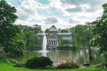 Crystal palace in the Madrid park