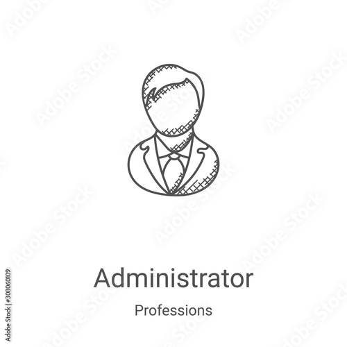 Photo administrator icon vector from professions collection