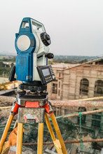 Modern Surveyor Equipment Used In Surveying And Building Constru