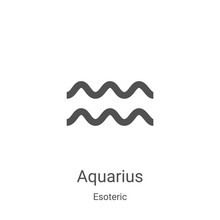 Aquarius Icon Vector From Esot...