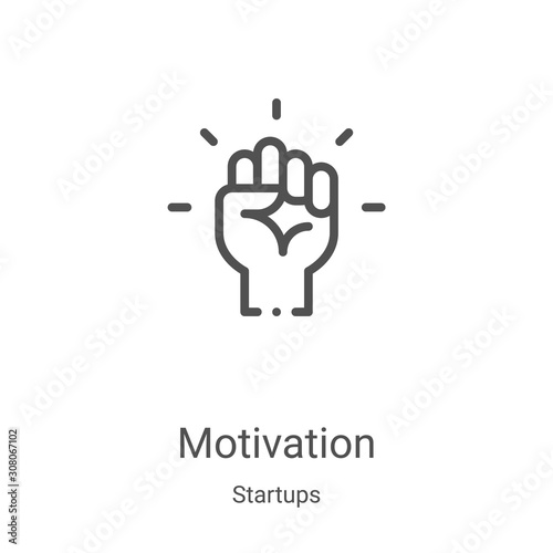 motivation icon vector from startups collection Canvas Print