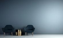 Modern Minimal Living Room And...